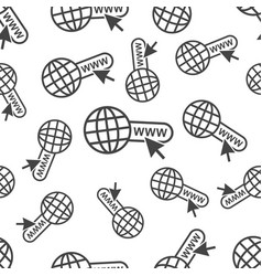 go to web seamless pattern background icon vector image