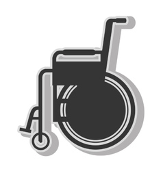 Handicap wheelchair disability vector image vector image