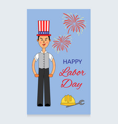 labor day design a man in a suit and an vector image vector image