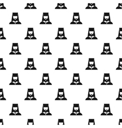Orthodox priest pattern simple style vector