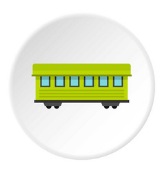 Passenger train car icon circle vector