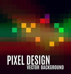 Pixel abstract background as colorful mosaic vector