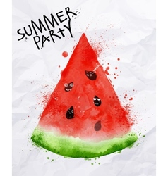 Poster summer party watermelon vector image vector image