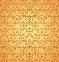 seamless vintage background Calligraphic pattern vector image