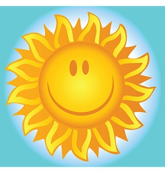 Smiling Summer Sun vector image vector image