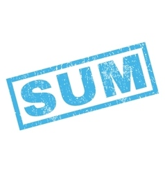 Sum rubber stamp vector