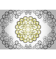 The circular ethnic pattern vector image