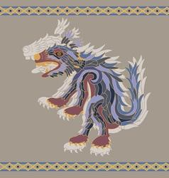 traditional aztec koyote vector image