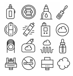 Vaping icons set isolated trend vector
