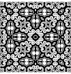 Vintage monochrome pattern vector image vector image