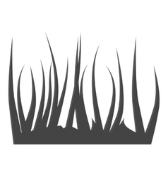 Grass icon gray monochrome style vector