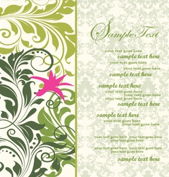 Green bridal shower invitation vector