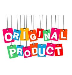 Colorful hanging cardboard tags - original vector