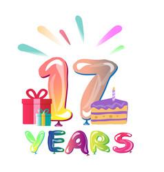 Happy anniversary 17 years vector