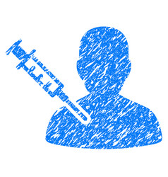 Patient vaccination grunge icon vector