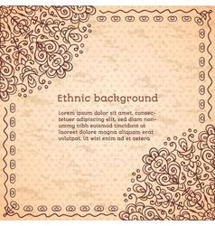 Vintage ethnic background vector image