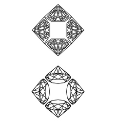 Square-diamondz-decor vector