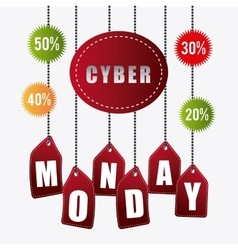 Cyber monday shopping season vector