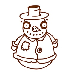 Hand drawn scarecrow vector