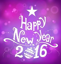 Postcard happy new year 2016 vector