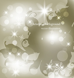 Subtle christmas background with snowflakes vector