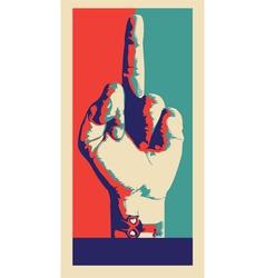 middle finger vector image