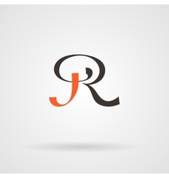 Calligraphic monogram letters in the vector