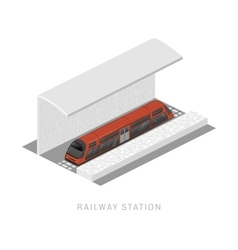 Isometric of subway train vehicles vector