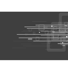 Geometric tech grey background vector