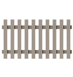 Wooden seamless fence rectangle shape isolated vector
