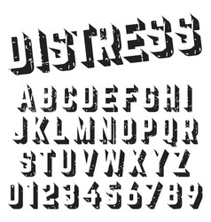 alphabet font template distressed texture design vector image vector image
