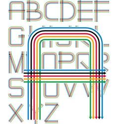 arrows font vector image vector image
