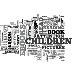 Benefits of childrens ebooks text word cloud vector