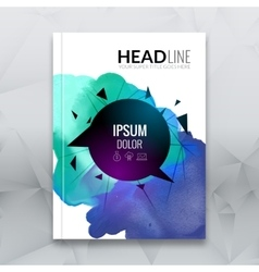 Business brochure report design template vector image vector image