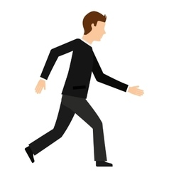 businessman walking isolated icon design vector image