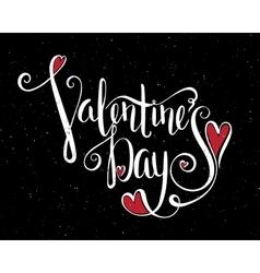 Calligraphic inscription Valentines Day vector image