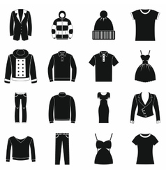 Clothes icons set simple style vector image vector image