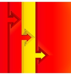 Colorful arrows with red cut paper layers vector image vector image