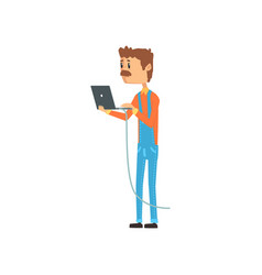 Computer technician or system administrator vector