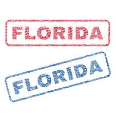 Florida textile stamps vector