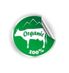 Fresh natural milk logo graphic vector