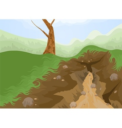 Geology drought vector