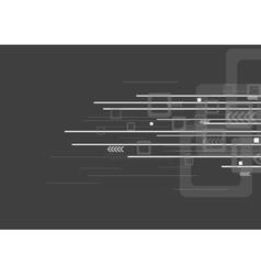 Geometric tech grey background vector image