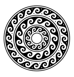 Greek mandala ancient round meander art vector