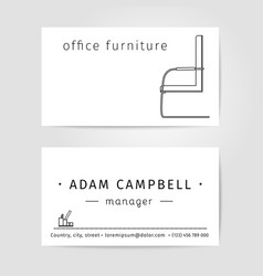 Interior and office Furniture Designer or Manager vector image vector image