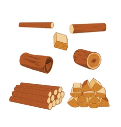 logs vector image