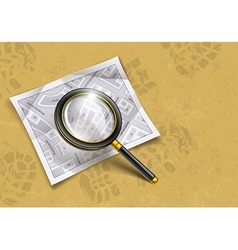 loupe magnifying glass tool vector image vector image
