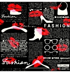 Newspaper fashion background vector image