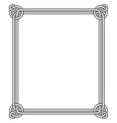 ornamental frame with vintage decor round elements vector image vector image