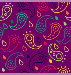 Pasley seamless pattern vector